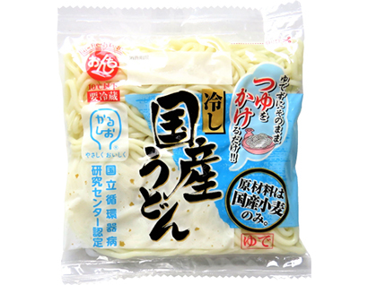 全国麺類特集:生麺・冷凍麺=恩地食品 「冷し国産うどん」などかるしお商品注力
