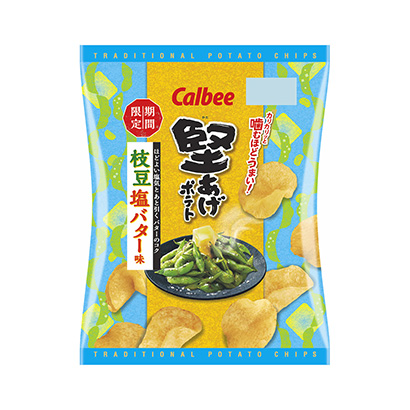 「堅あげポテト 枝豆塩バター味」発売(カルビー)