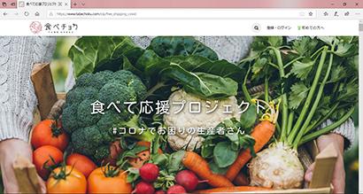 専用サイトのトップページ