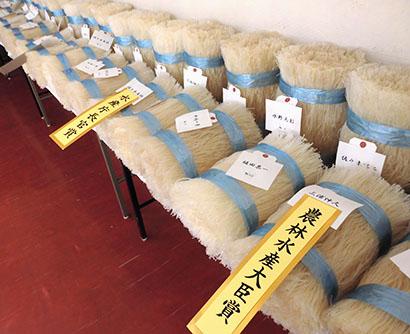岐阜県寒天水産工業組合、品評会受賞者を発表 良質な細寒天揃う