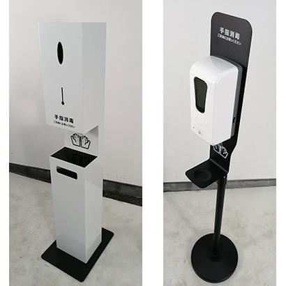 (左)省スペース化を実現したBOXタイプ、(右)スタンドタイプは高さの伸縮が可能