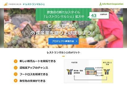 インフォマート、売買加速へ「レストランマルシェ」第2弾 飲食店や卸を支援