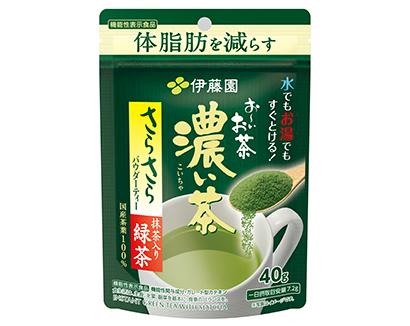 好調な推移を見せる機能性表示食品の「お~いお茶 濃い茶 さらさら抹茶入り緑茶」