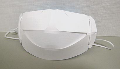 笹徳印刷、イベント配布用「紙製簡易マスク」を開発