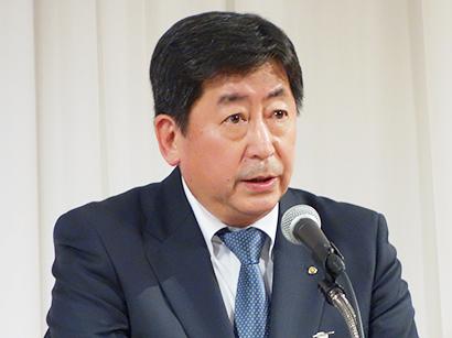 日本水産、入社式を開催 的埜明世社長「苦難乗り越えよう」