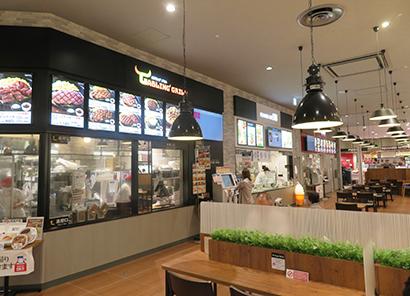 独自の即食コーナー「ここdeデリ」も充実し、新たな食スタイルを提案