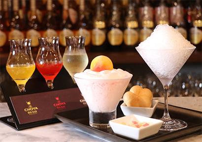 チョーヤ梅酒、梅づくしかき氷を専門店で限定販売