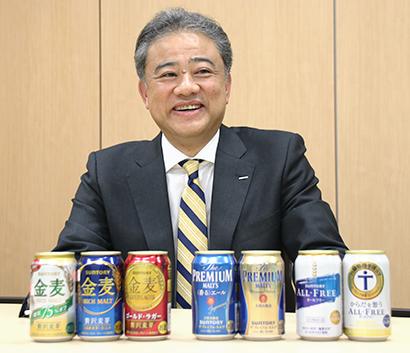 """酒類流通の未来を探る:サントリービール・西田英一郎社長 """"酒ある生活""""文化と…"""