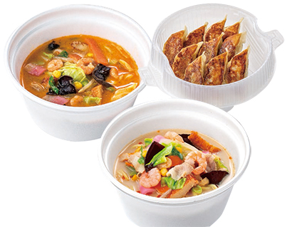 リンガーハット「ぎょうざたっぷり食べるスープ」「長崎ちゃんぽん」