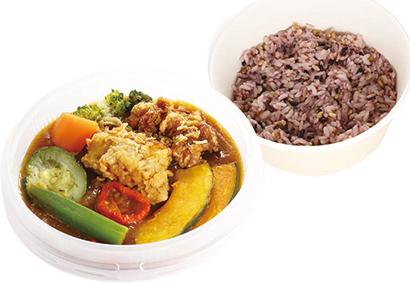 「1/3日分緑黄色野菜雑穀米のスープカレー」539円(税込み) 397g