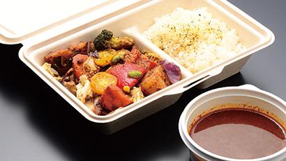 「一日分の野菜カレー」1,040円(税込み) 具材+ライス524g、カレー185g