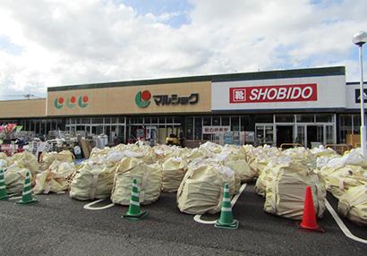 臨時休業中の小売店舗(人吉市)
