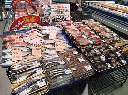 圧倒的鮮度にこだわっている「鮮魚コーナー」