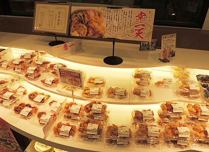惣菜コーナーの天ぷらが高い評価を得ている