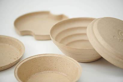 ゼットン、小麦ブラン活用の循環食器「edish」を試験導入