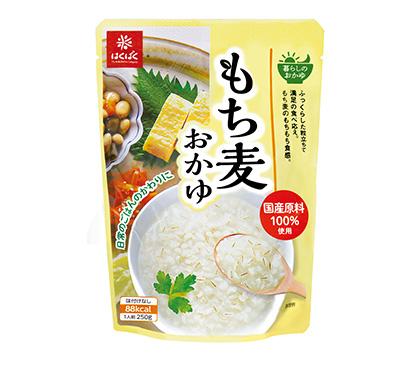 包装米飯特集:はくばく おかゆ食シーン創造 「もち麦」など3品上市