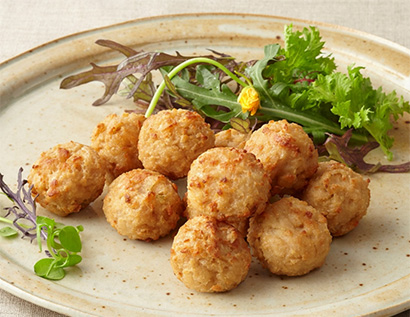 中部外食・中食産業特集:ケイエス冷凍食品 植物由来原材料だけ「ソイリーボール…