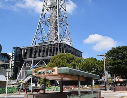 再開発が進むテレビ塔を中心とした栄周辺