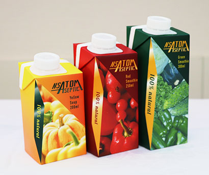 日本製紙と四国化工機、プラ代替新紙容器を開発 高粘度な飲料にも