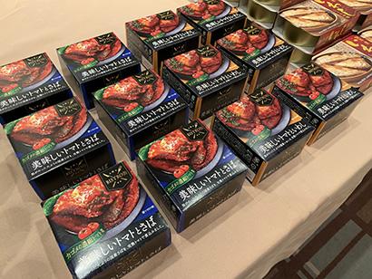 「メーカー型卸」を掲げ高付加価値型の独自商品を展開するマルイチ産商(子会社・信田缶詰製造の缶詰「BISTRO缶・美味しいトマトとさば」)