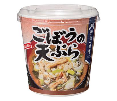 プレゼント:神州一味噌 即席カップみそ汁「おいしいね!! ごぼうの天ぷら」を…