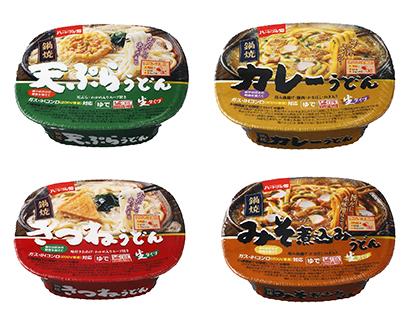 三井食品、「ハートフル畑」鍋焼きうどん4品をリニューアル