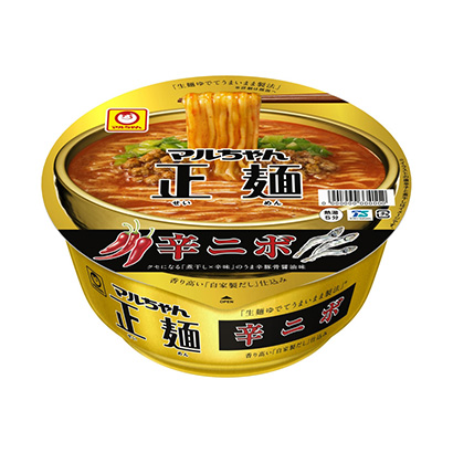 「マルちゃん正麺 カップ 辛二ボ」発売(東洋水産)