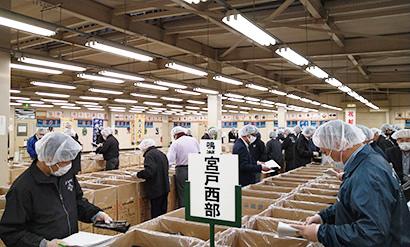 宮城県漁協、「みちのく寒流のり」入札会 全国に先駆け開催