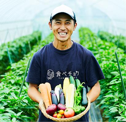無農薬野菜を栽培して提供する「食べチョク」の登録生産者