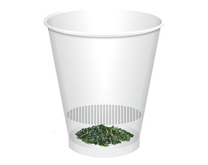 緑茶特集:吉村 「リーフティーカップ」提案 新市場さらなる開拓を