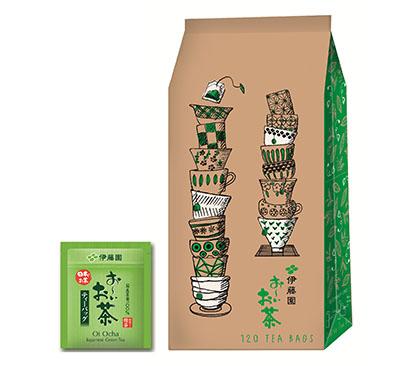 「お~いお茶緑茶」エコティーバッグ120袋。環境配慮かつ大容量のEC専用商品として新たなライフスタイルに対応