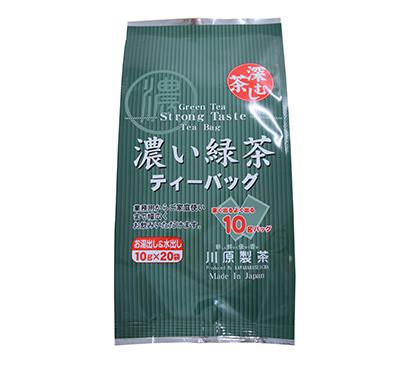 主力商品の「濃い緑茶」