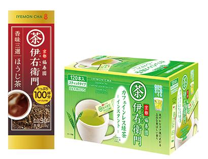 緑茶特集:宇治の露製茶 「伊右衛門」など6品をリニューアル・新発売