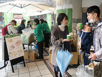 吉村、日本初上陸の「リーフティーカップ」発売記念で試飲会