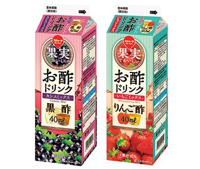 スジャータ 果実でおいしいお酢ドリンク「カシスミックス」「いちごミックス」
