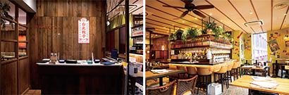 同フロアを2つに分け、スタッフ、厨房は同じだが、フロアの右は台湾料理の同店、左はタイ料理「CAFE RAMBUTAN」という2つの異なる業態で営業しているユニークなスタイル。