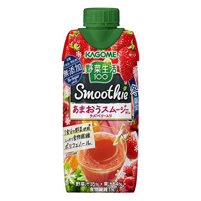 「野菜生活100 Smoothie あまおうスムージーMixラズベリー入り」…