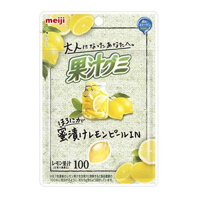 「大人果汁グミ レモンピール」発売(明治)