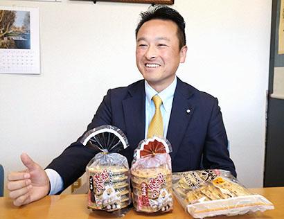 東北地区新春特集:小松製菓・小松豊社長 南部の厳しい風土が育てた「せんべい」