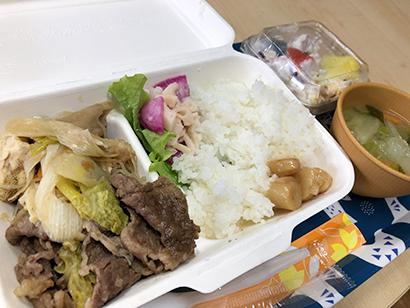 福島県産和牛肉などを使ったおいしい食事が振る舞われた