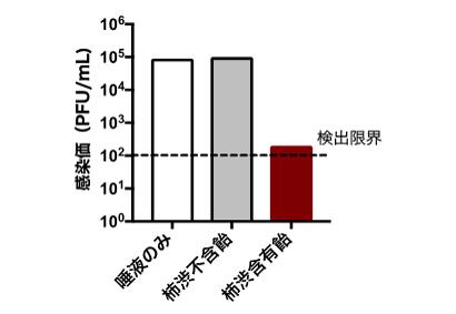 UHA味覚糖と奈良県立医大、柿渋含む飴で共同研究 新型コロナ不活化を実証