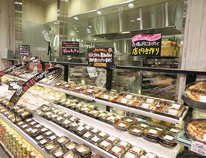 肉の惣菜や煮魚・焼魚を惣菜売場に集中