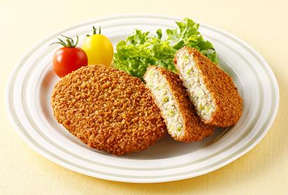学校給食特集:日東ベスト 「FM国産キャベツメンチカツ」 食べやすいやさしい…