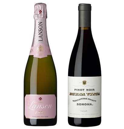 ダイヤモンドトロフィーを獲得したワイン2種