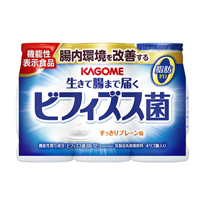 「生きて腸まで届くビフィズス菌 すっきりプレーン味」発売(カゴメ)
