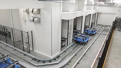 自動倉庫と在庫管理システムを組み合わせて入出庫やピッキング作業の省力化も実現
