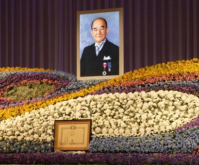 故・芥川篤二氏(芥川製菓名誉会長)お別れの会