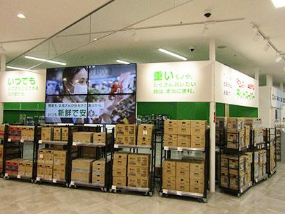 西友、売場内にネットスーパー作業場設置 「春日店」改装オープンで