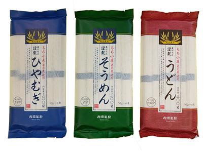 全国麺類特集:東北地区=松田製粉 うどんも加わりもち麦入り3品揃う