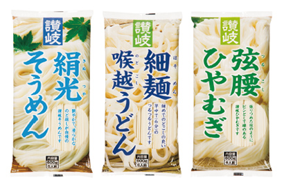 全国麺類特集:讃岐地区機械麺=さぬきシセイ 600gシリーズが一押し